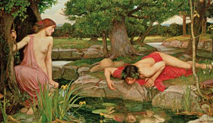 FIGURA 1. Narciso y Eco, pintura de John William Waterhouse